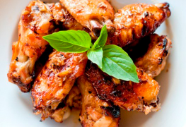 Chicken wings marinated